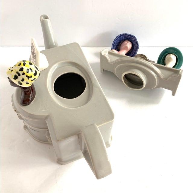 Ceramic Vintage Richard Parrington Novelty Teapot Mode De Paris For Sale - Image 7 of 13