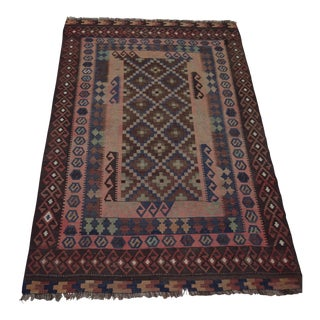 Contemporary Afghan Kilim Handmade Rug - 6′9″ × 4′3″ For Sale