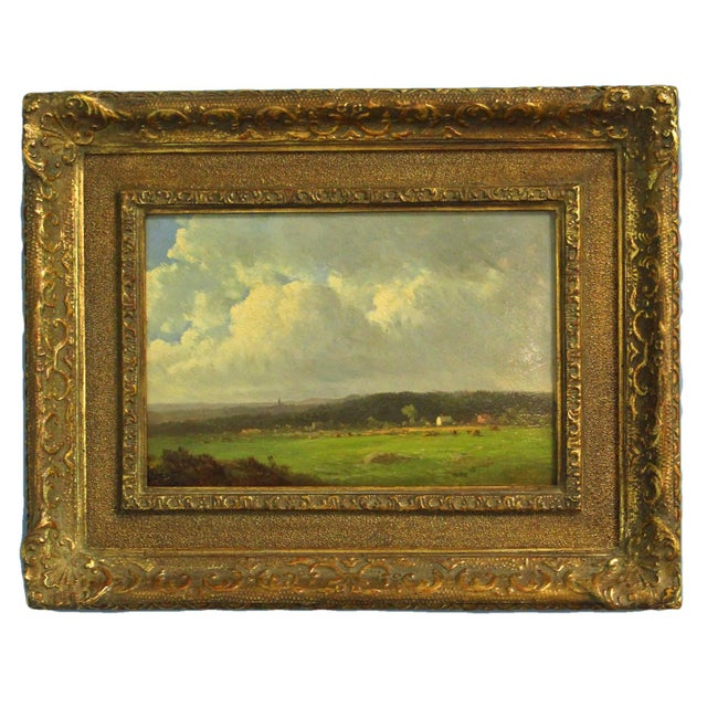 """Late 19th Century Late 19th Century Antique Thomas Bigelow Craig """"Berkshire Meadows"""" Painting For Sale - Image 5 of 5"""