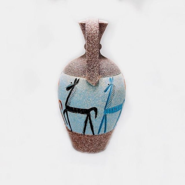 Fratelli Fanciullacci Tall Fratelli Vase With Horses For Sale - Image 4 of 7