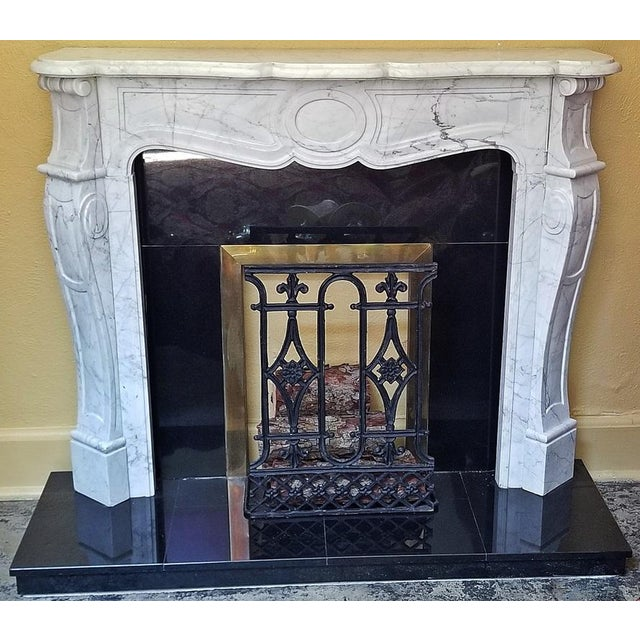 20c Irish White Marble Fireplace - Complete For Sale - Image 11 of 11