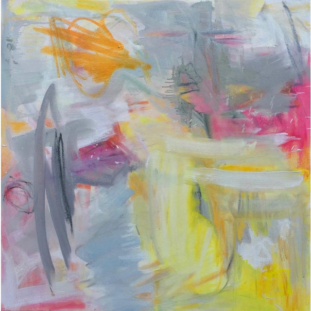 """""""Partially Sunny"""" by Trixie Pitts Abstract Expressionist Oil Painting For Sale - Image 9 of 10"""