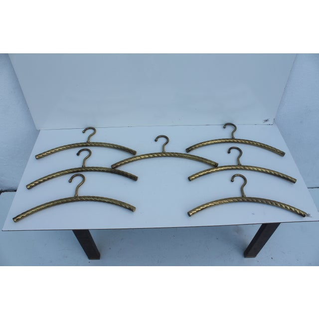 Italian Hollywood Regency Brass Hangers - 7 - Image 8 of 8