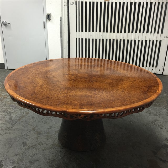 Contemporary New Martin Pierce Hedgerow Circular Dining Table For Sale - Image 3 of 11