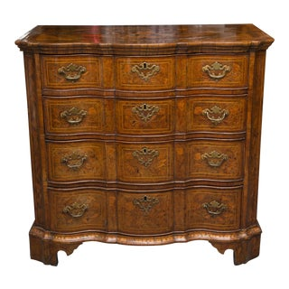 18th Century Dutch Walut Marquetry Chest
