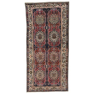 1940s Persian Bakhtiari Gallery Rug - 5′10″ × 12′2″ For Sale