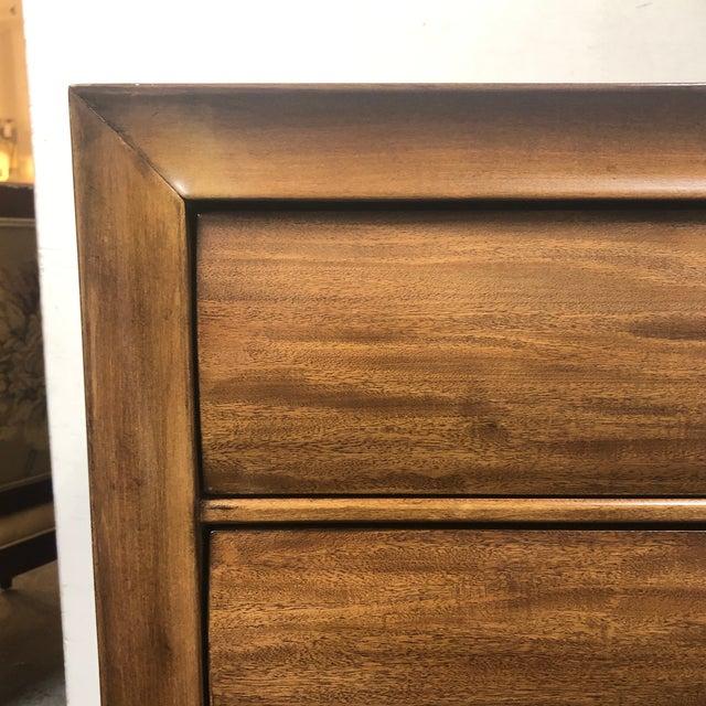 Walnut American Drew Eight Drawer Walnut Dresser For Sale - Image 7 of 11