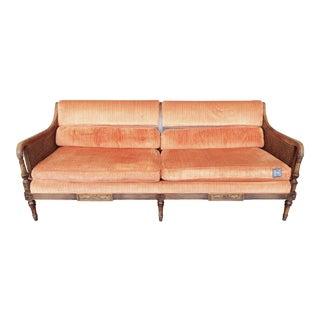 Vintage Cane Sofa For Sale