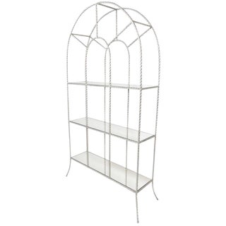 Silver Gilt Rope Twist Etagere For Sale