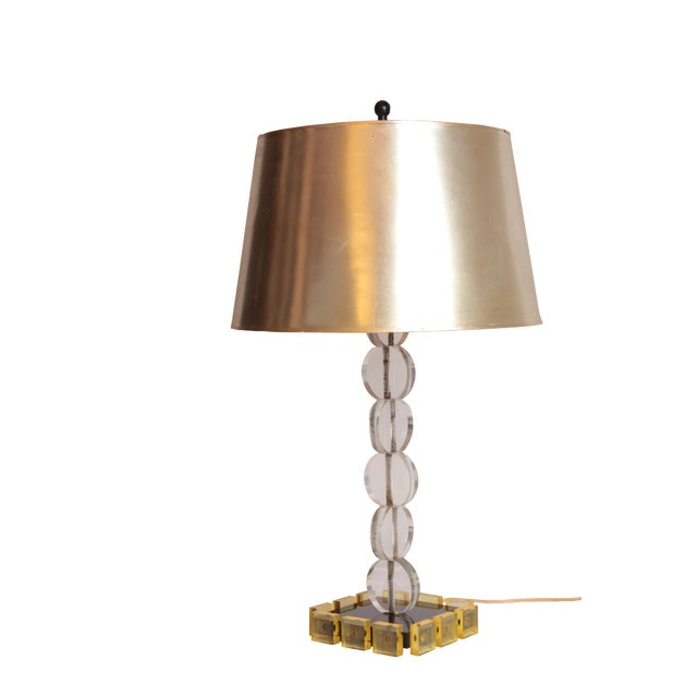 Mid-Century Lucite Table Lamp For Sale