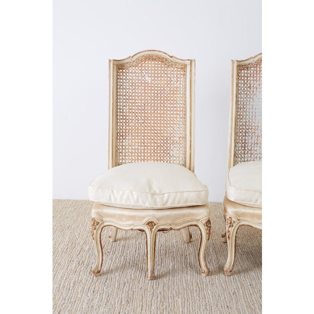 Pair of French Provincial Five-Leg Slipper Chairs For Sale - Image 4 of 13