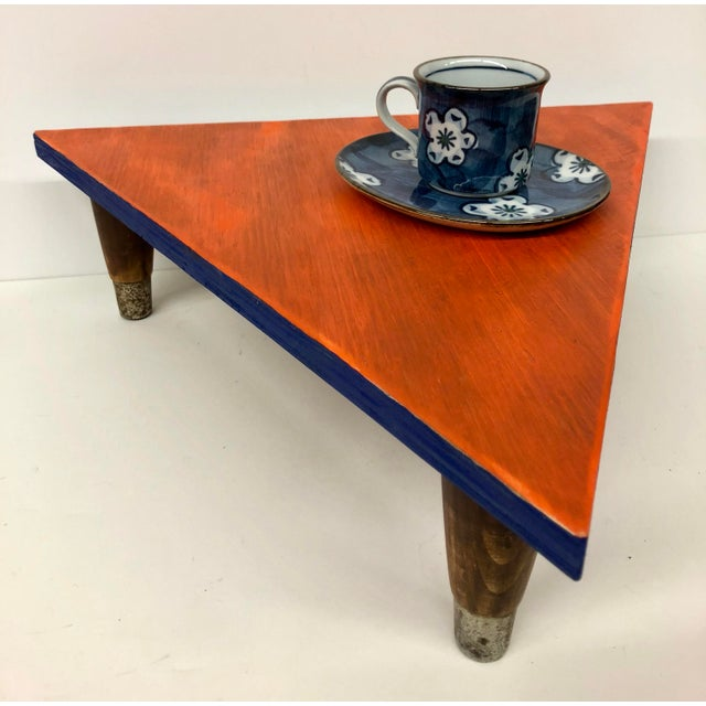 Reclaimed Wood Triangle Low Table For Sale In Boston - Image 6 of 13