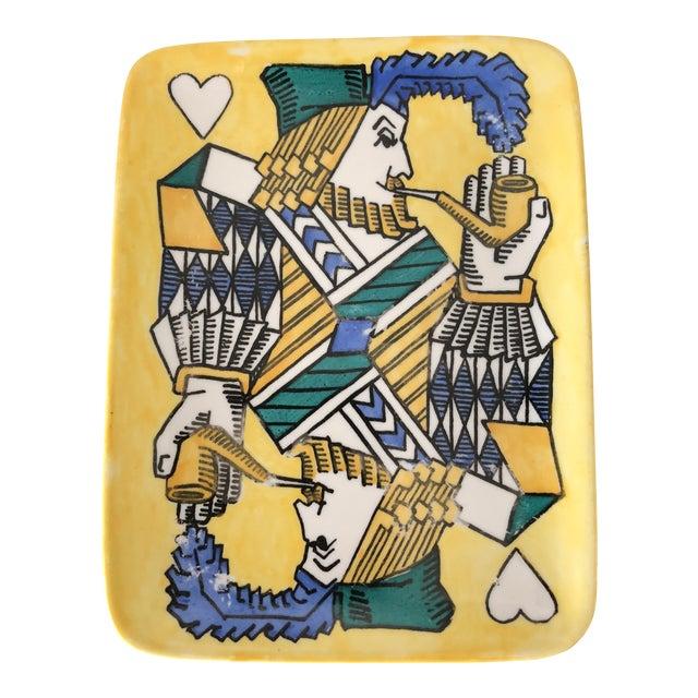 1950s Mid-Century Modern Piero Fornasetti Ceramic Tray For Sale