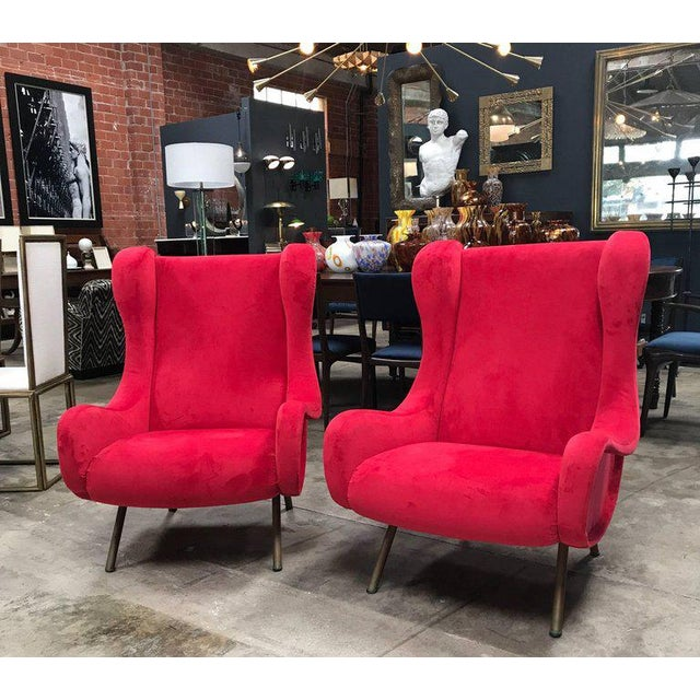 Mid-Century Modern 1960s Pair of Marco Zanuso Senior Armchairs for Arflex For Sale - Image 3 of 9
