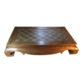 Antique Indonesian Bed/Coffee Table For Sale