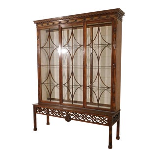 Baker Stately Homes Chippendale Mahogany Cabinet