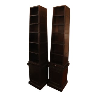Baker Furniture Pyramid Bookcases From Stately Homes Collection - a Pair For Sale