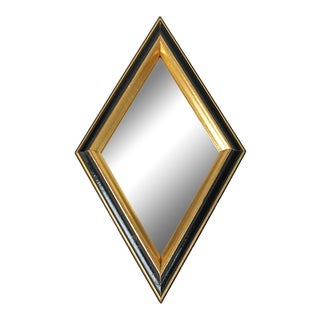 Vintage Diamond Shaped Wall Mirror For Sale