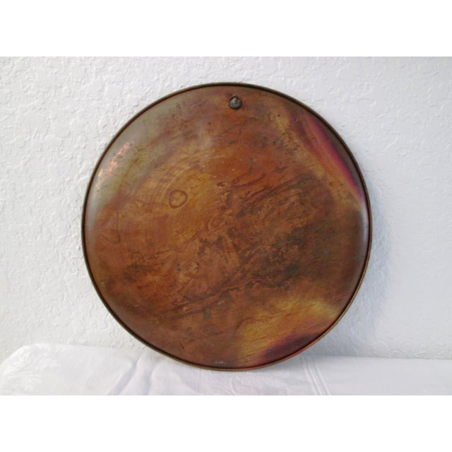 Vintage Moroccan Large Etched Copper Tray - Image 6 of 6