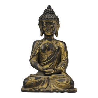 Late 20th Century Brass Buddha Statue For Sale
