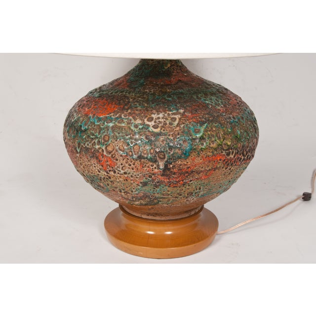 Boho Chic Volcanic Glaze Table Lamp For Sale - Image 3 of 3