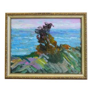 "Original Juan ""Pepe"" Guzman, Ventura Ocean & Bluff Landscape Oil Painting For Sale"