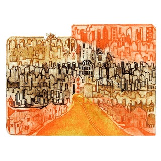 "Anita Kebanoff ""Metropolis"" Etching For Sale"