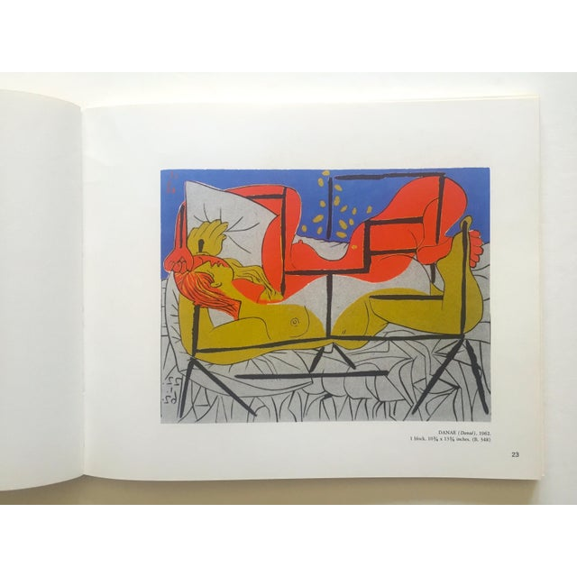 "1960s "" Picasso Linocuts 1958 - 1963 "" Rare Vintage 1968 1st Edition Lithograph Print Collector's Exhibition Art Book For Sale - Image 5 of 13"
