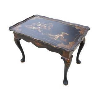 Antique English Queen Anne Style Chinoiserie Tea Table