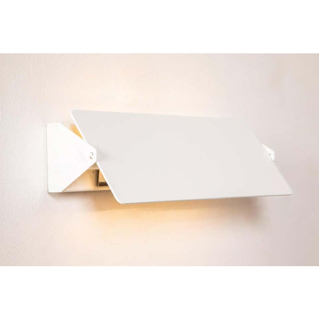 Large Charlotte Perriand 'Applique à Volet Pivotant Double' Wall Lights in White For Sale - Image 9 of 13
