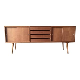 Custom Mid-Century Style Walnut Credenza For Sale
