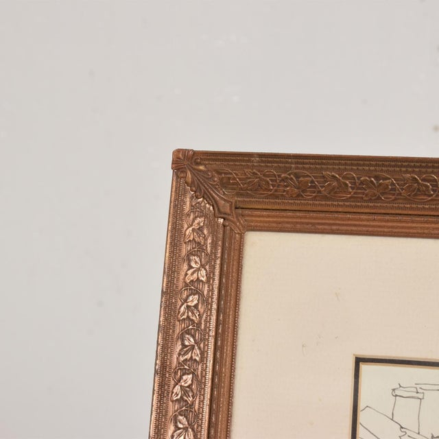 Excellent Art Deco Period Brass Picture Frame Grapevine