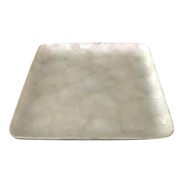 Square Capiz Shell Tray For Sale