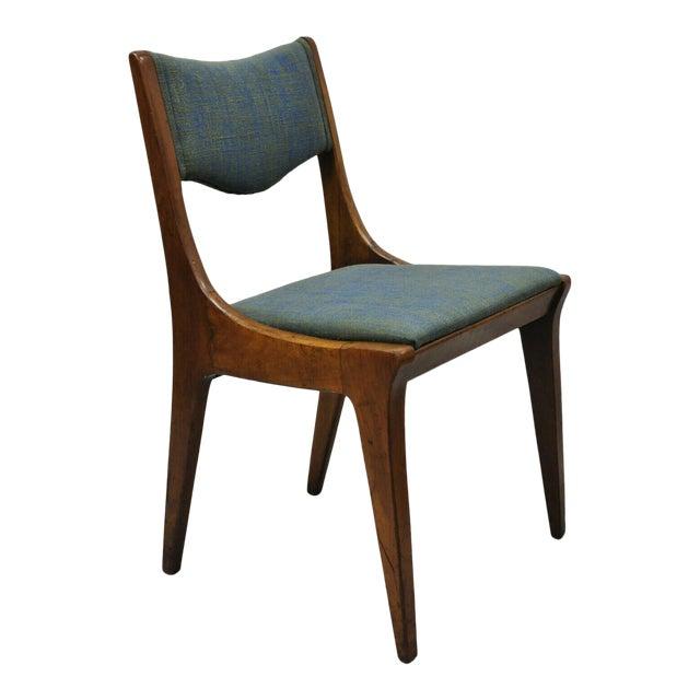 Drexel Dateline John Van Koert Walnut Mid Century Modern Dining Side Chair (A) For Sale