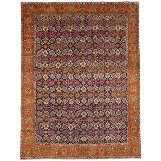 "Tabriz Persian Rug, 9'4"" x 12'5"" feet"