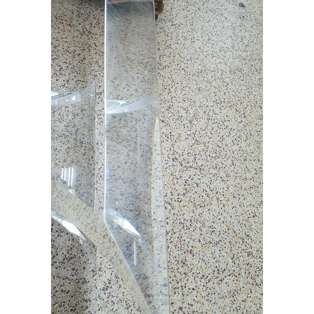 1970's Lion in Frost Butterfly Lucite Table Base For Sale - Image 10 of 11