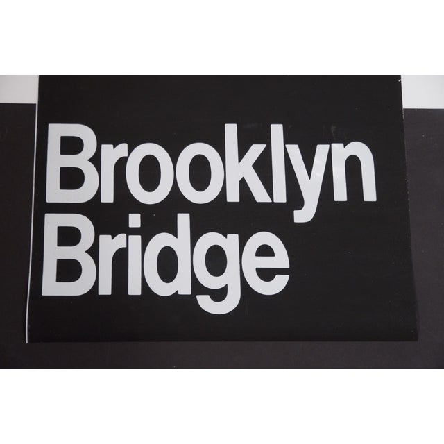 American 1980s Americana New York City '6 Train' Subway Sign For Sale - Image 3 of 4