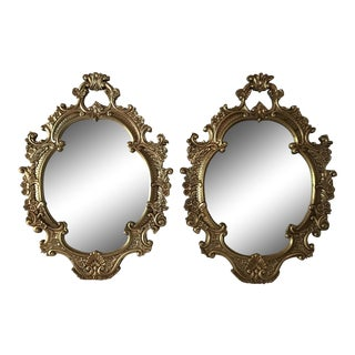 Pair Oversized Gilt Mirrors For Sale
