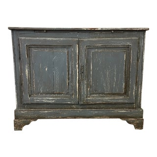 19th C. French Two Door Painted Console Buffet For Sale