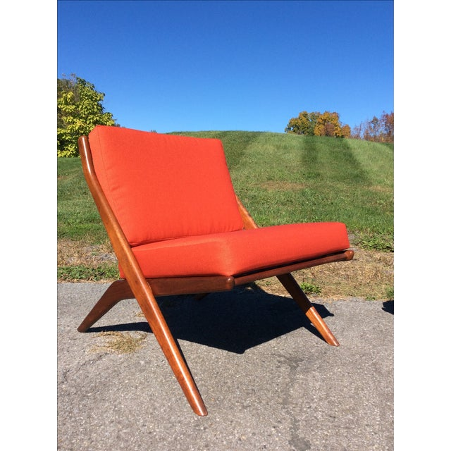 Folke Ohlsson for Dux Teak Scissor Chairs - A Pair For Sale In New York - Image 6 of 9