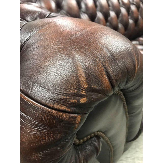 Sumptuous Leather Chesterfield Sofa With Rolled Arms For Sale - Image 9 of 13