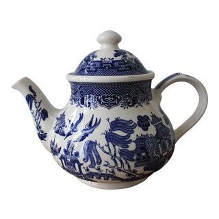 Churchill Blue Willow Teapot
