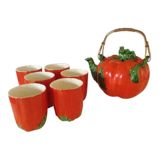 Japanese Pumpkin Tea Set For Sale