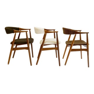 Mid-Century Danish Chairs by T. Harlev for Farstrup - Set of 3 For Sale