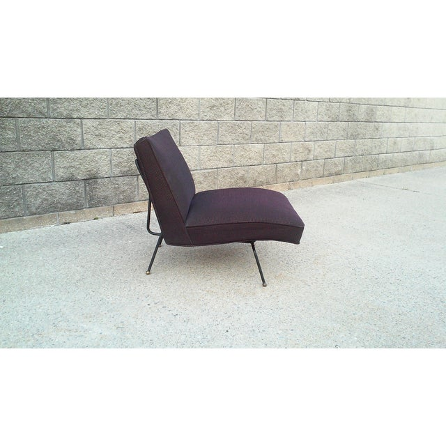 Baughman-Style Mid-Century Iron Frame Slipper Chair - Image 5 of 7