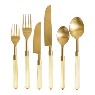 PRISM Oro + Gold Flatware - Set of 6 For Sale