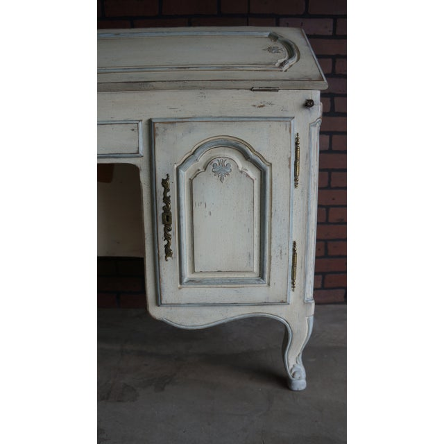 Late 20th Century 20th Century Shabby Chic Secretary Desk For Sale - Image 5 of 10
