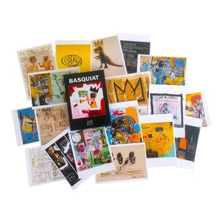 Jean Michel Basquiat Estate Rare Collector's Pop Art Postcard Prints Boxed - Set of 25 For Sale