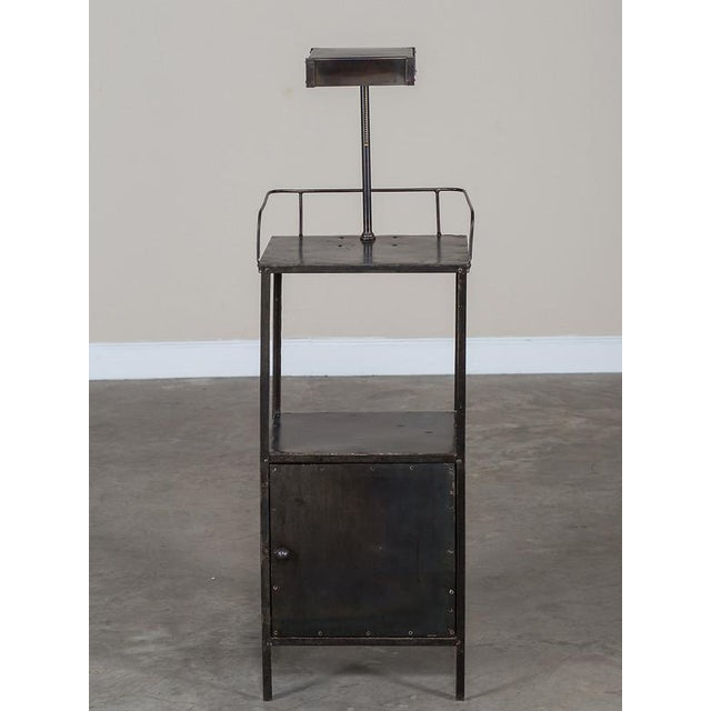 Vintage Industrial French Metal Cabinet with Light circa 1940 - Image 11 of 11