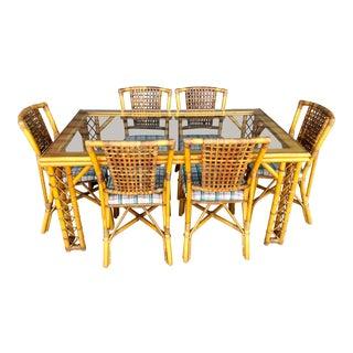 Vintage Rattan Dining Set For Sale